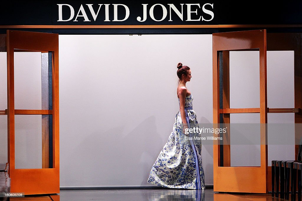 Miranda Kerr showcases designs by Collette Dinnigan during rehearsal ahead of the David Jones A/W 2013 Season Launch at David Jones Castlereagh Street on February 6, 2013 in Sydney, Australia.