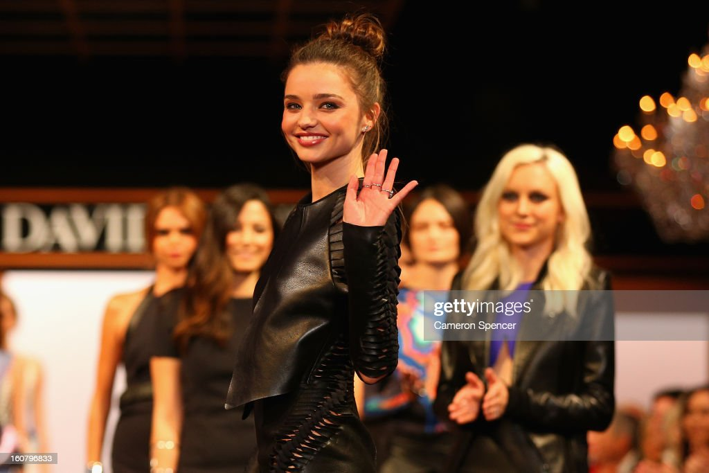 <a gi-track='captionPersonalityLinkClicked' href=/galleries/search?phrase=Miranda+Kerr&family=editorial&specificpeople=5714330 ng-click='$event.stopPropagation()'>Miranda Kerr</a> showcases designs by Dion Lee on the runway during the finale of the David Jones A/W 2013 Season Launch at David Jones Castlereagh Street on February 6, 2013 in Sydney, Australia.