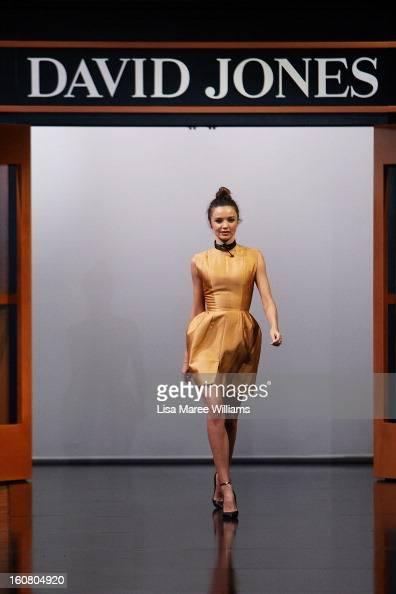 Miranda Kerr showcases designs by Ellery during rehearsal ahead of the David Jones A/W 2013 Season Launch at David Jones Castlereagh Street on...