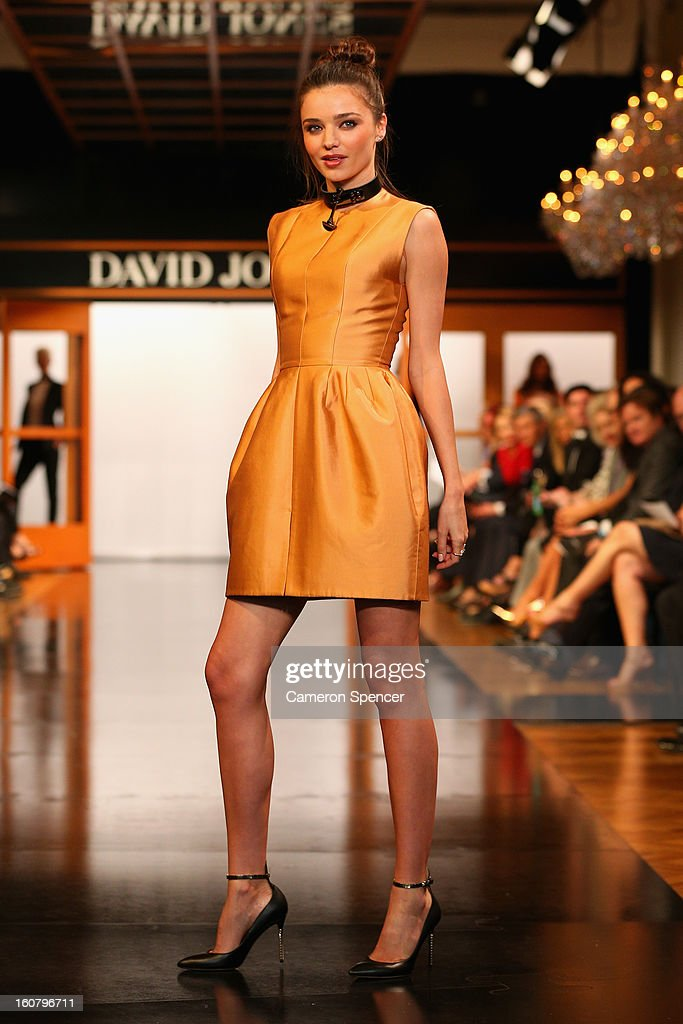 Miranda Kerr showcases designs by Ellery on the runway during the David Jones A/W 2013 Season Launch at David Jones Castlereagh Street on February 6, 2013 in Sydney, Australia.
