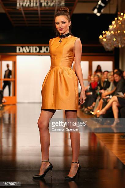 Miranda Kerr showcases designs by Ellery on the runway during the David Jones A/W 2013 Season Launch at David Jones Castlereagh Street on February 6...