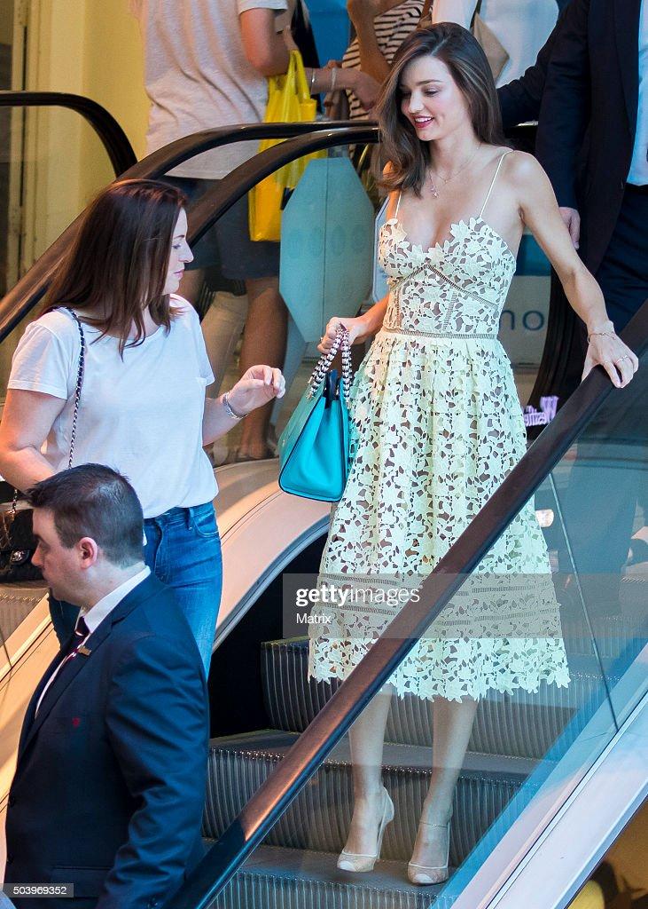 Miranda Kerr sighted at Westfield Bondi Junction as she arrived for her Kora Organics Pop Up store appearance on December 17 2015 in Sydney Australia