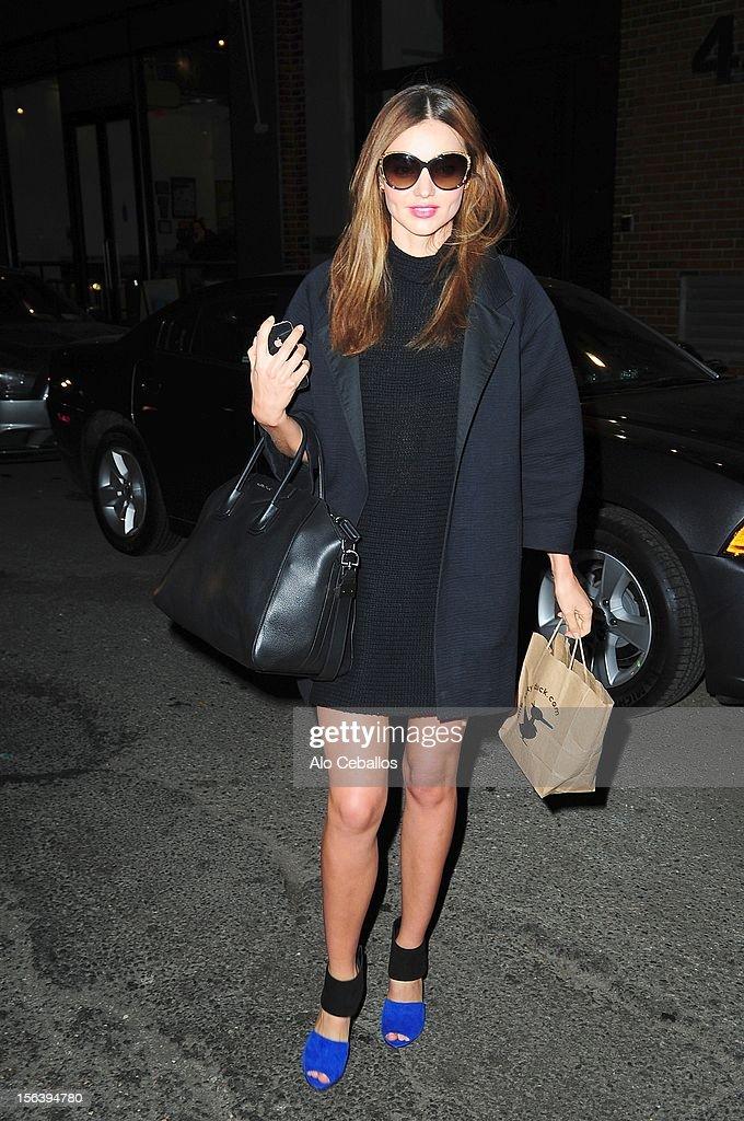 Miranda Kerr Sighting at Streets of Manhattan on November 14, 2012 in New York City.
