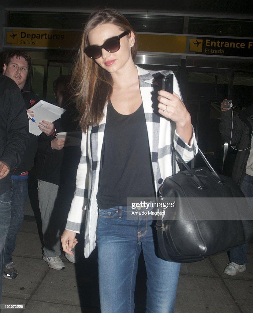 Miranda Kerr sighting on February 25, 2012 in New York City.