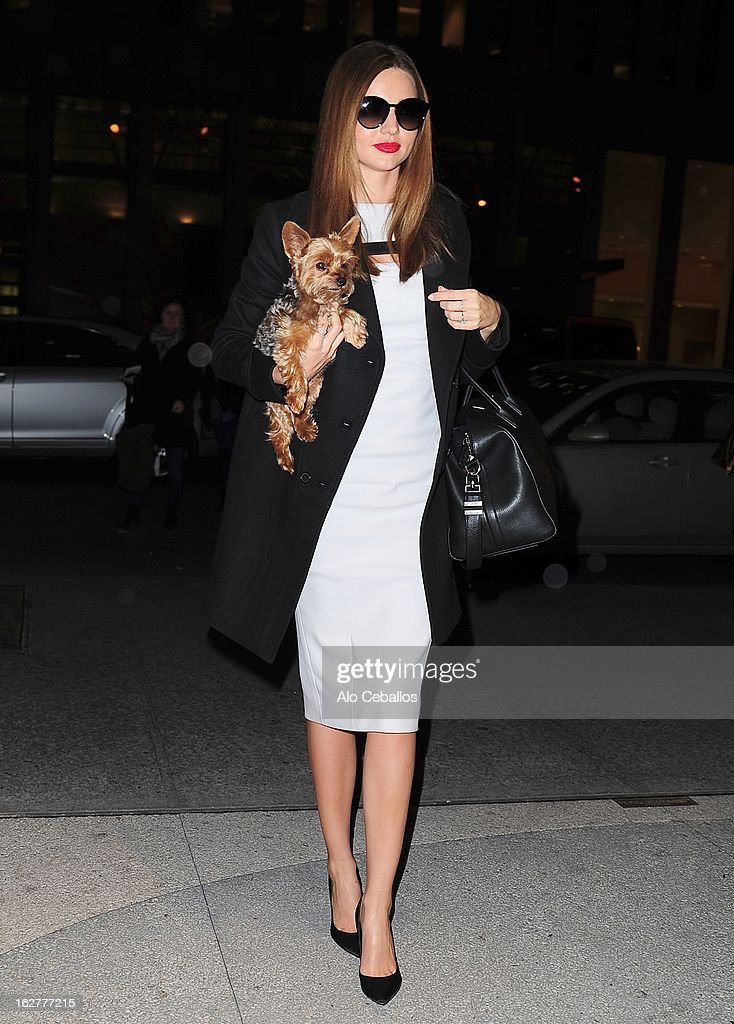 Miranda Kerr sighting on February 26, 2013 in New York City.