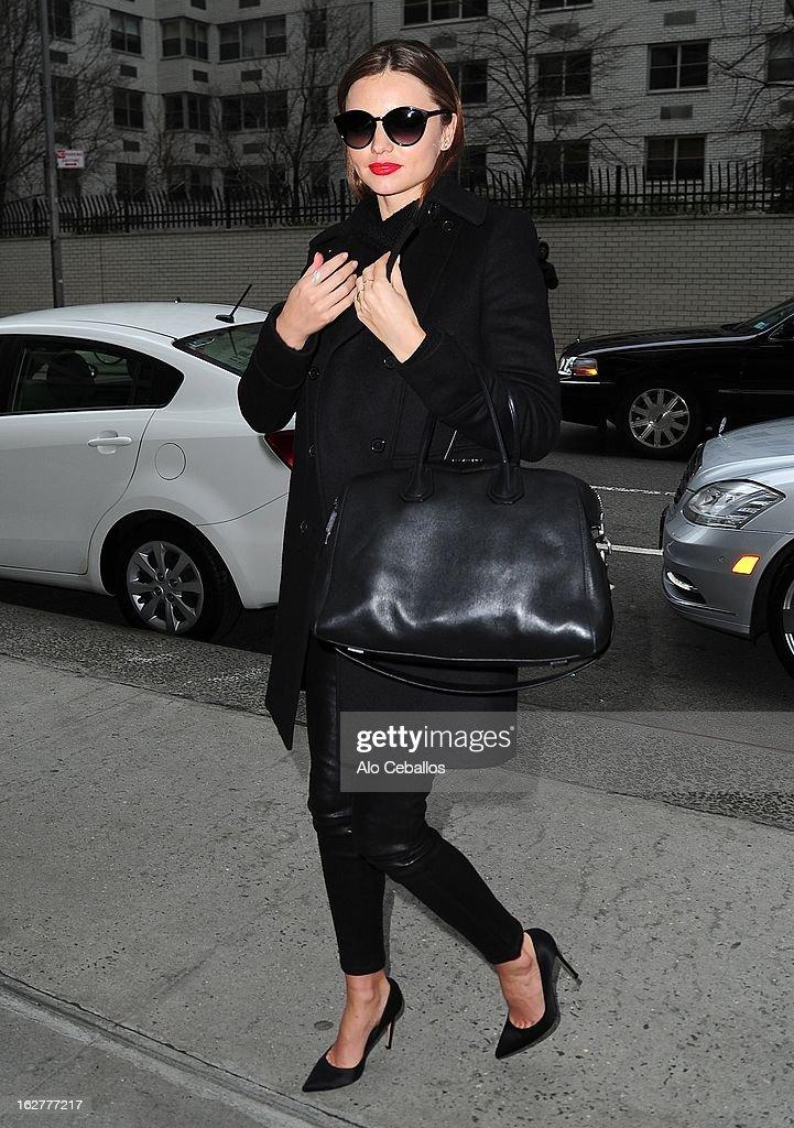 Miranda Kerr sighting on February 26, 2013 in New York City.