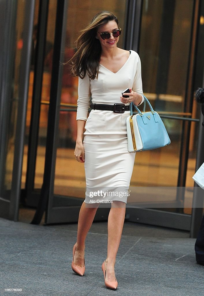 <a gi-track='captionPersonalityLinkClicked' href=/galleries/search?phrase=Miranda+Kerr&family=editorial&specificpeople=5714330 ng-click='$event.stopPropagation()'>Miranda Kerr</a> sighting on the streets of Manhattan on November 12, 2012 in New York City.