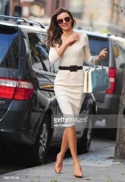 Miranda Kerr sighting on the streets of Manhattan on November 12 2012 in New York City
