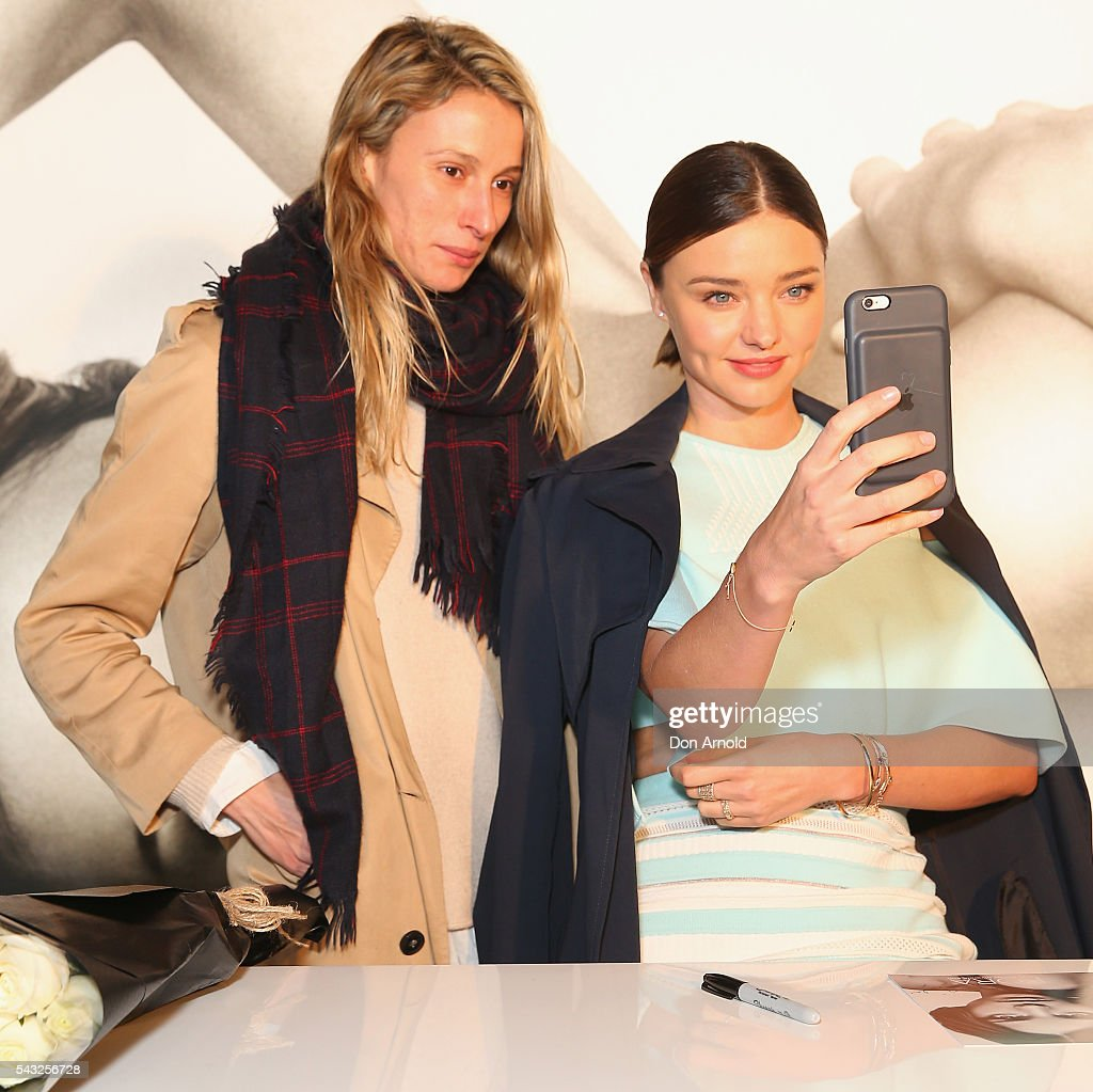 <a gi-track='captionPersonalityLinkClicked' href=/galleries/search?phrase=Miranda+Kerr&family=editorial&specificpeople=5714330 ng-click='$event.stopPropagation()'>Miranda Kerr</a> takes a selfie with fans at Westfield,Sydney on June 27, 2016 in Sydney, Australia.