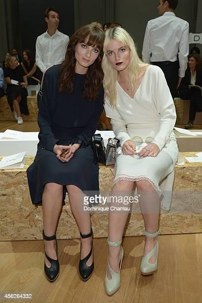 Miranda Kilbey and Elektra Kilbey attend the Chloe show as part of the Paris Fashion Week Womenswear Spring/Summer 2015 on September 28 2014 in Paris...