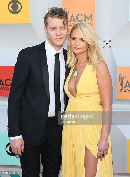 Miranda Lambert and Anderson East attend the 51st Academy of Country Music Awards at MGM Grand Garden Arena on April 3 2016 in Las Vegas Nevada