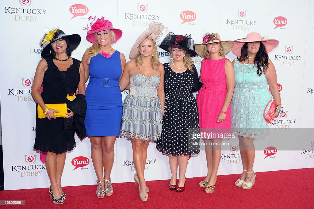 Miranda Lambert (third from left) and guests attend the 139th Kentucky Derby at Churchill Downs on May 4, 2013 in Louisville, Kentucky.
