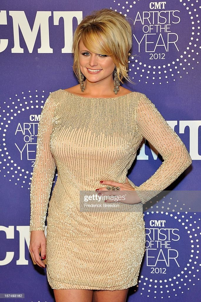 <a gi-track='captionPersonalityLinkClicked' href=/galleries/search?phrase=Miranda+Lambert&family=editorial&specificpeople=571972 ng-click='$event.stopPropagation()'>Miranda Lambert</a> arrives at the 2012 CMT Artists Of The Year at The Factory At Franklin on December 3, 2012 in Franklin, Tennessee.