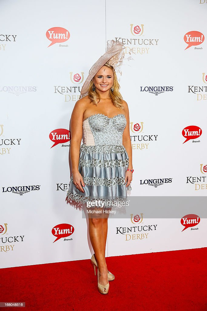 <a gi-track='captionPersonalityLinkClicked' href=/galleries/search?phrase=Miranda+Lambert&family=editorial&specificpeople=571972 ng-click='$event.stopPropagation()'>Miranda Lambert</a> attends 139th Kentucky Derby at Churchill Downs on May 4, 2013 in Louisville, Kentucky.