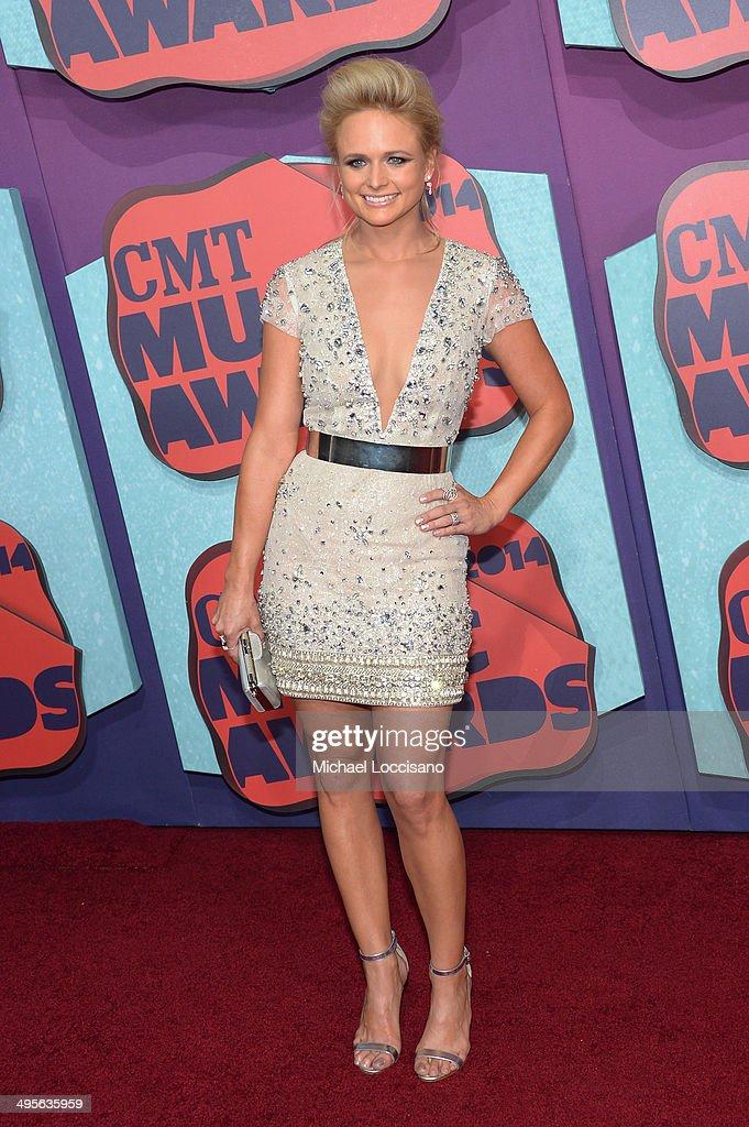 Miranda Lambert attends the 2014 CMT Music awards at the Bridgestone Arena on June 4, 2014 in Nashville, Tennessee.