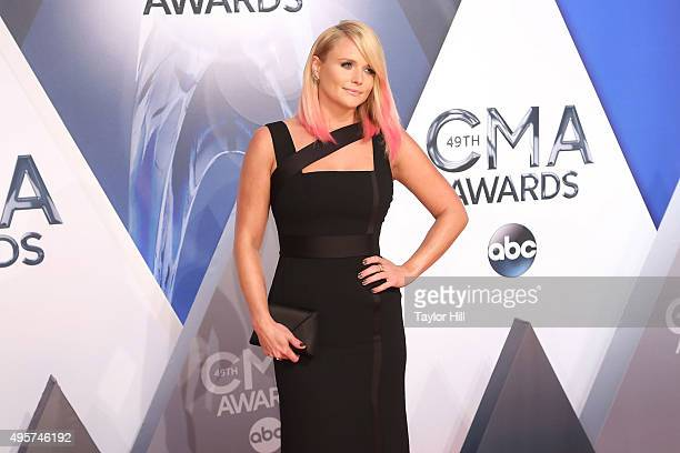 Miranda Lambert attends the 49th annual CMA Awards at the Bridgestone Arena on November 4 2015 in Nashville Tennessee