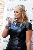 Miranda Lambert attends the 'Got Milk' Campaign CMA Awards Kick Off event at the Country Music Association Headquarters on October 31 2012 in...
