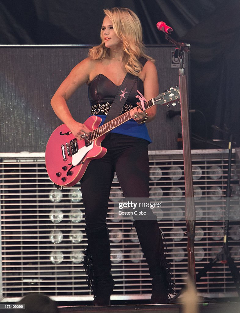 Miranda Lambert during the opening act for Jason Aldean in concert at Fenway Park, Friday, July 12, 2013.