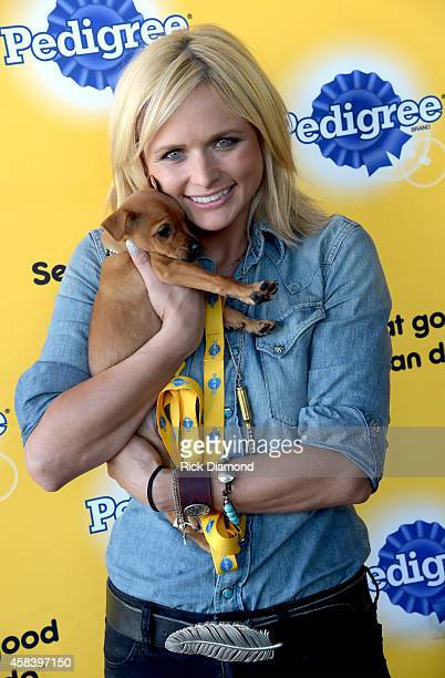 Miranda Lambert is celebrating two passions this week music and shelter dogs at Music City Center on November 3 2014 in Nashville Tennessee Lambert...