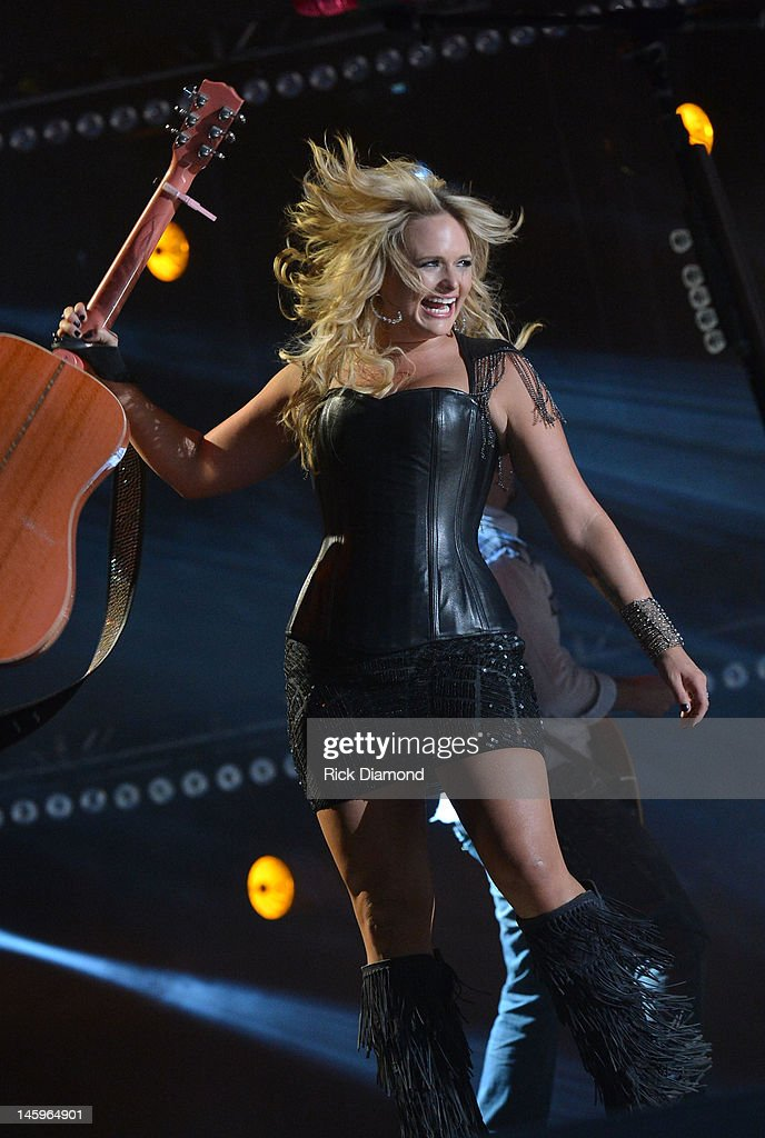 <a gi-track='captionPersonalityLinkClicked' href=/galleries/search?phrase=Miranda+Lambert&family=editorial&specificpeople=571972 ng-click='$event.stopPropagation()'>Miranda Lambert</a> performs during the 2012 CMA Music Festival - Day 1 at LP Field on June 7, 2012 in Nashville, Tennessee.