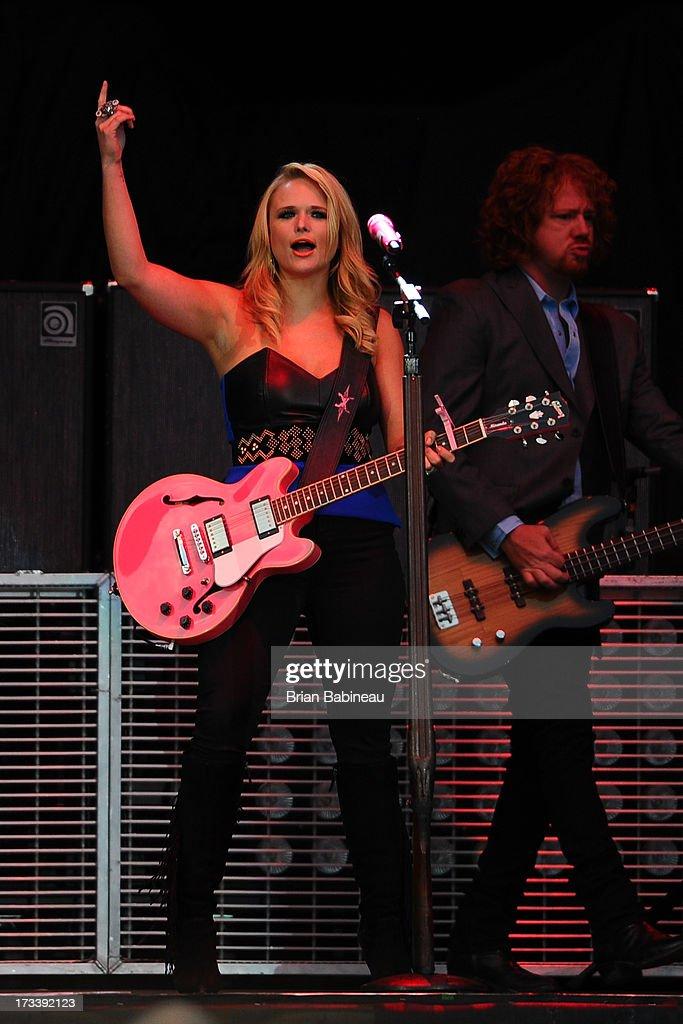 Miranda Lambert performs during the Night Train Tour 2013 at Fenway Park on July 20, 2013 in Boston, Massachusetts.