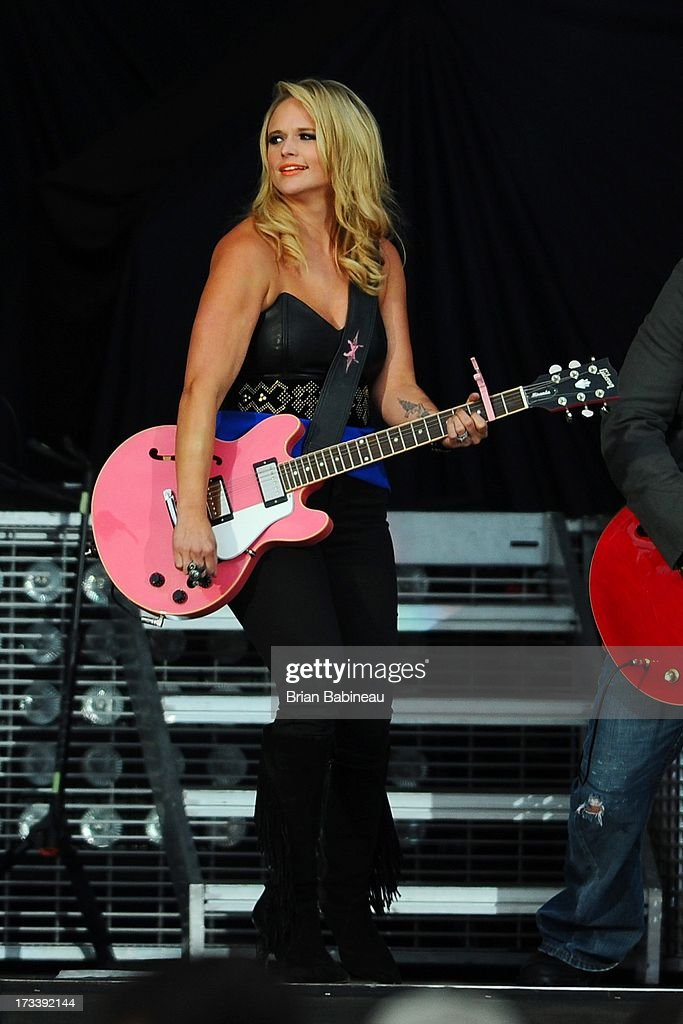 Miranda Lambert performs during the Night Train Tour 2013 at Fenway Park on July 20, 2013 in Boston, Massachusetts.
