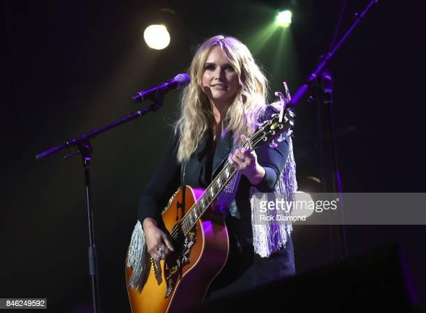Miranda Lambert performs onstage during George Strait's Hand in Hand Texas benefit concert Strait and special guests Miranda Lambert Chris Stapleton...