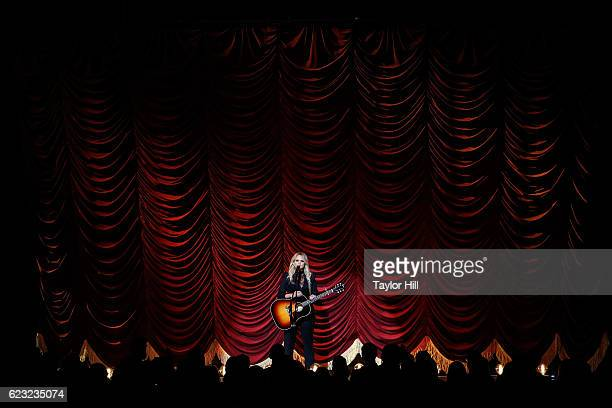 Miranda Lambert performs onstage during the 50th annual CMA Awards at the Bridgestone Arena on November 2 2016 in Nashville Tennessee