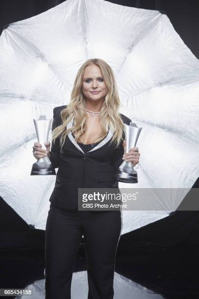 Miranda Lambert poses for a photograph in the CBS Photo Booth backstage at THE 52ND ACADEMY OF COUNTRY MUSIC AWARDS broadcast LIVE from TMobile Arena...