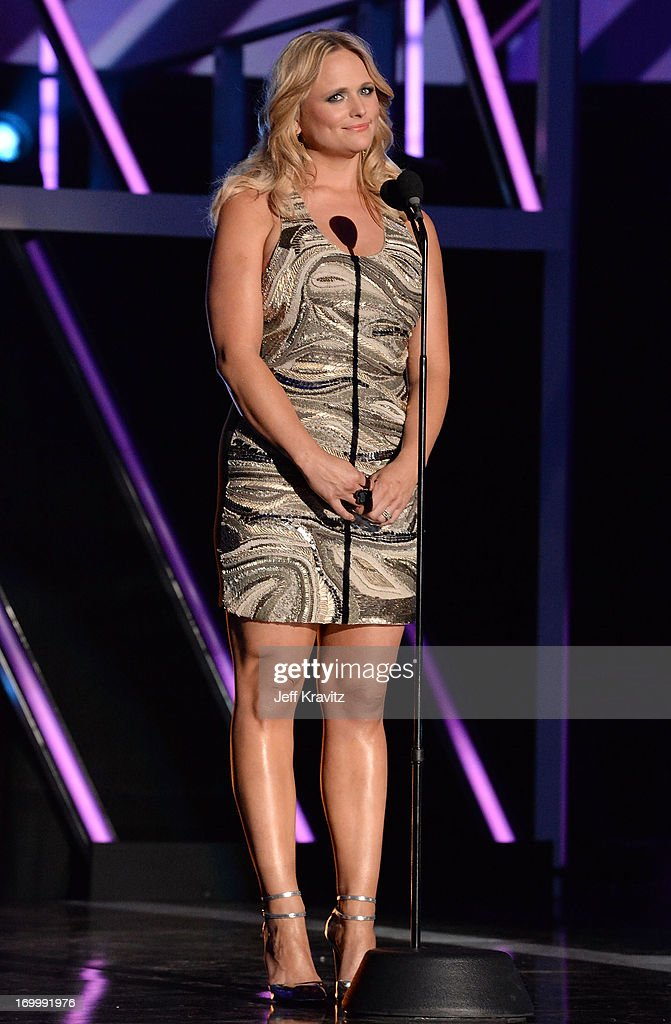 <a gi-track='captionPersonalityLinkClicked' href=/galleries/search?phrase=Miranda+Lambert&family=editorial&specificpeople=571972 ng-click='$event.stopPropagation()'>Miranda Lambert</a> speaks onstage at the 2013 CMT Music Awards at the Bridgestone Arena on June 5, 2013 in Nashville, Tennessee.