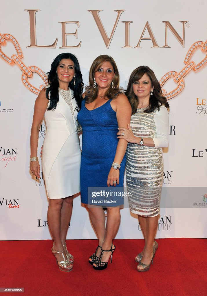 Miranda LeVian, Elizabeth LeVian and Angela LeVian arrive at the 2015 Le Vian Red Carpet Revue at the Mandalay Bay Convention Center on June 1, 2014 in Las Vegas, Nevada.