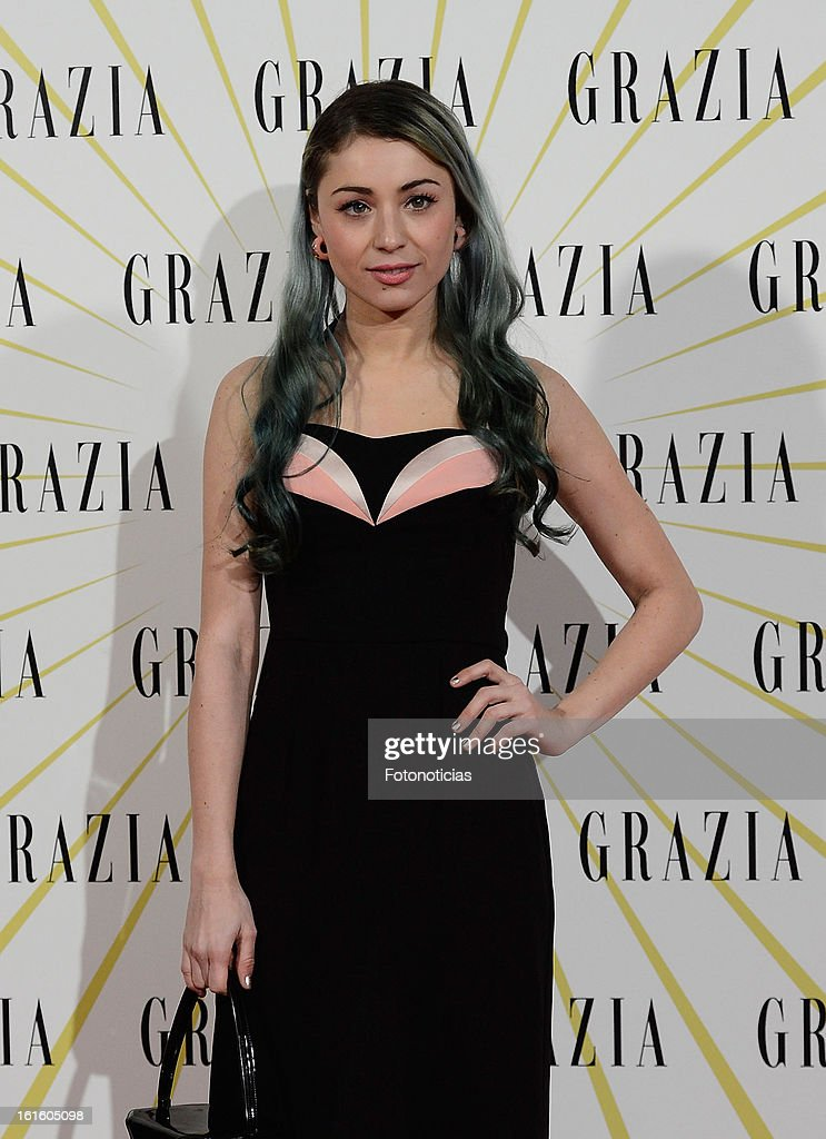 Miranda Makaroff attends Grazia Magazine launch party at the Circo Prize Theater on February 12, 2013 in Madrid, Spain.