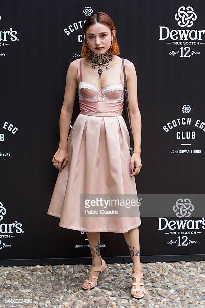 Miranda Makaroff attends the Dewar's Scotch Egg Club opening party at the Real Fabrica de Tapices on July 6 2016 in Madrid Spain