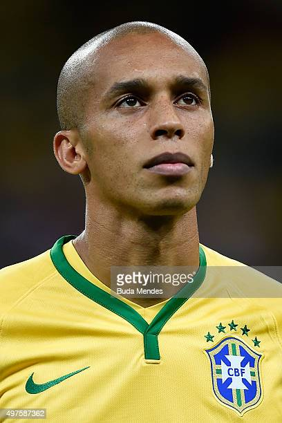 Miranda of Brazil looks on before a match between Brazil and Peru as part of 2018 FIFA World Cup Russia Qualifiers at Arena Fonte Nova on November 17...