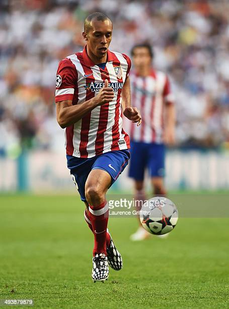 Miranda of Club Atletico de Madrid in action during the UEFA Champions League Final between Real Madrid and Atletico de Madrid at Estadio da Luz on...