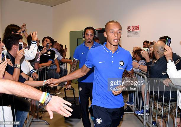 Miranda of FC Internazionale before the Serie A match between FC Internazionale Milano and Atalanta BC at Stadio Giuseppe Meazza on August 23 2015 in...