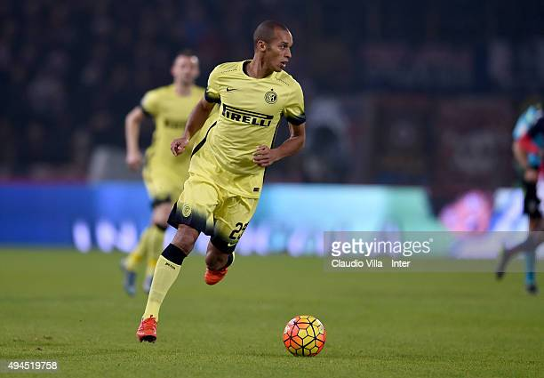 Miranda of FC Internazionale in action during the Serie A match between Bologna FC and FC Internazionale Milano at Stadio Renato Dall'Ara on October...