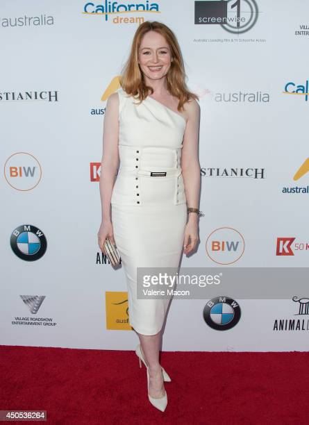 Miranda Otto arrives at the Australians In Film's Heath Ledger Scholarship Dinner at SLS Hotel on June 12 2014 in Beverly Hills California