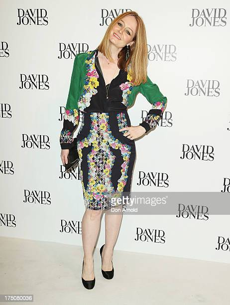Miranda Otto arrives at the David Jones Spring/Summer 2013 Collection Launch at David Jones Elizabeth Street on July 31 2013 in Sydney Australia