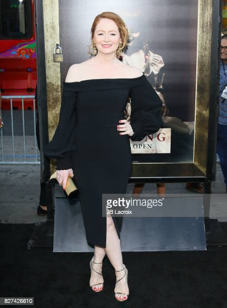 Miranda Otto attends the premiere of New Line Cinema's 'Annabelle Creation' on August 07 2017 in Los Angeles California