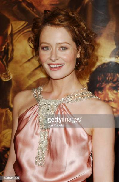 Miranda Otto during 'The Lord Of The Rings The Return Of The King' Los Angeles Premiere at The Mann Village Theatre in Westwood California United...