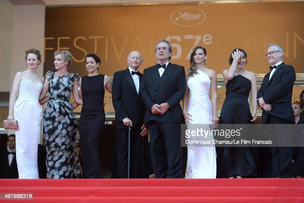 Miranda Otto Sonja Richter a guest Tommy Lee Jones Hilary Swank a guest and General Delegate of the Cannes Film Festival Thierry Fremaux attend 'The...