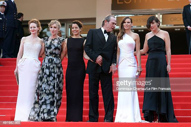 Miranda Otto Sonja Richter a guest Tommy Lee Jones Hilary Swank and a guest attend 'The Homesman' Premiere at the 67th Annual Cannes Film Festival on...