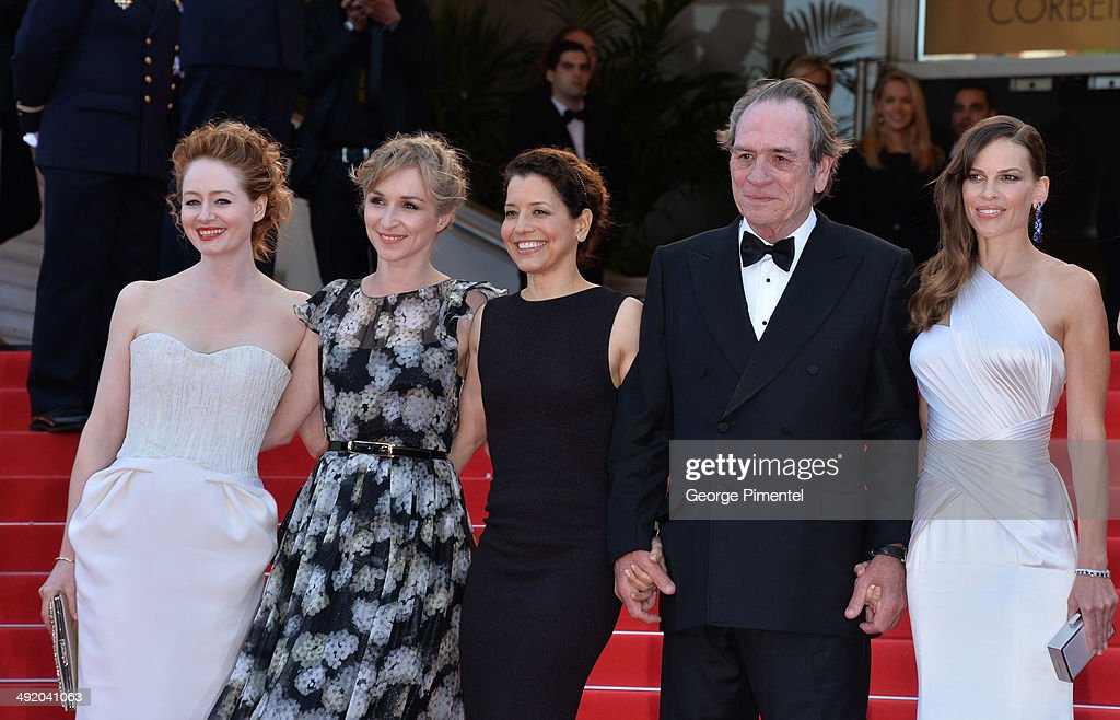 Miranda Otto Sonja Richter Dawn Jones Tommy Lee Jones and Hilary Swank attend 'The Homesman' Premiere at the 67th Annual Cannes Film Festival on May...