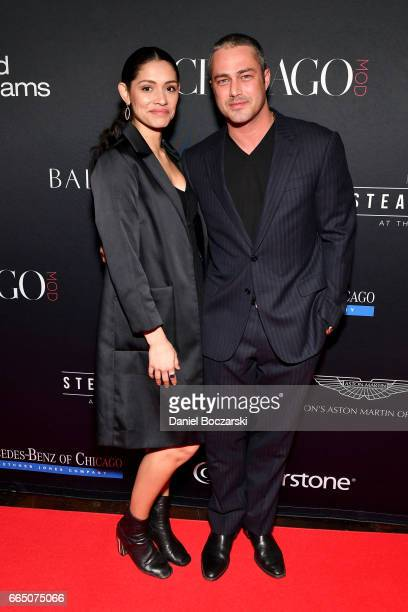 Miranda Rae Mayo and Taylor Kinney attend MOD Media Presents ChicagoMOD Magazine on April 5 2017 in Chicago Illinois