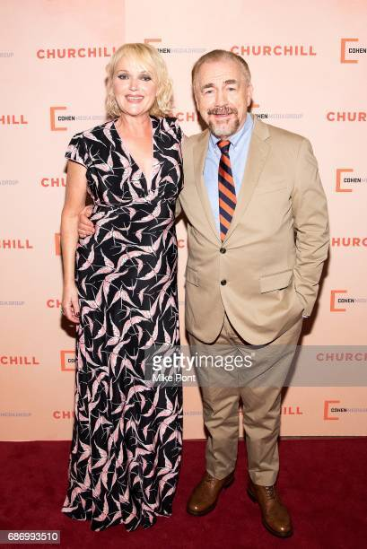 Miranda Richardson and Brian Cox attend the 'Churchill' New York Premiere at the Whitby Hotel on May 22 2017 in New York City