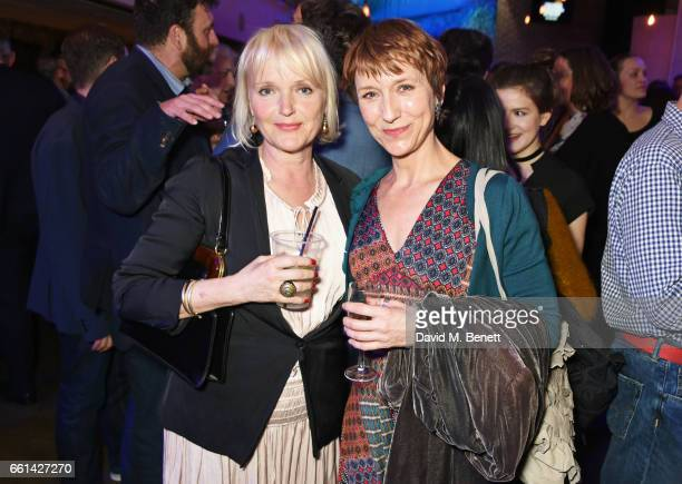 Miranda Richardson and Lia Williams attend 'Brave New Works The Almeida Fundraising Gala 2017' at The Almeida Theatre on March 30 2017 in London...