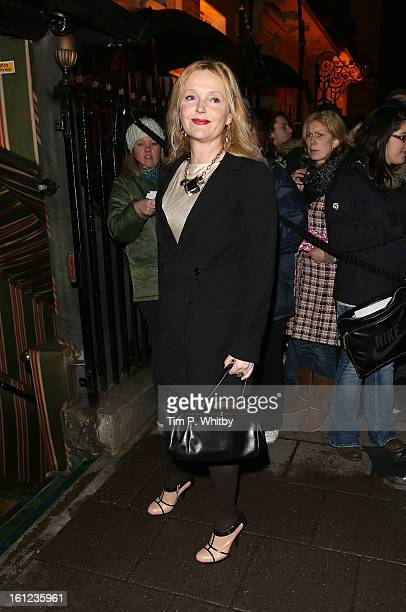 Miranda Richardson attends the Charles Finch and Chanel preBAFTA dinner at Annabels on February 9 2013 in London England