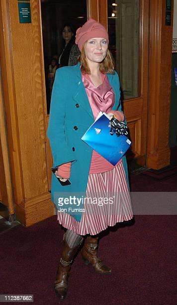 Miranda Richardson during 'Cirque du Soleil Alegria' Press Night Inside Arrivals at Royal Albert Hall in London Great Britain