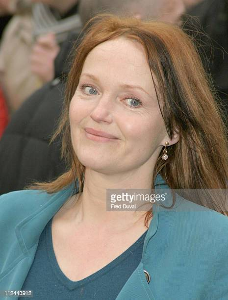 Miranda Richardson during 'The Magic Roundabout' Premiere Arrivals at Vue West End in London United Kingdom